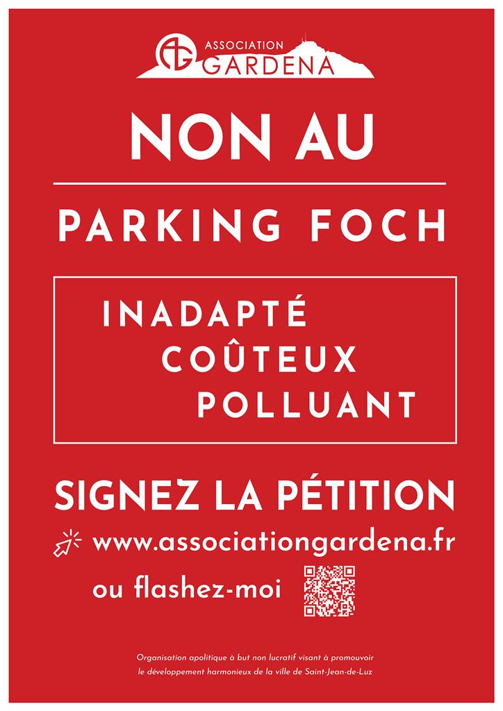 Affiche Gardena non au parking Foch