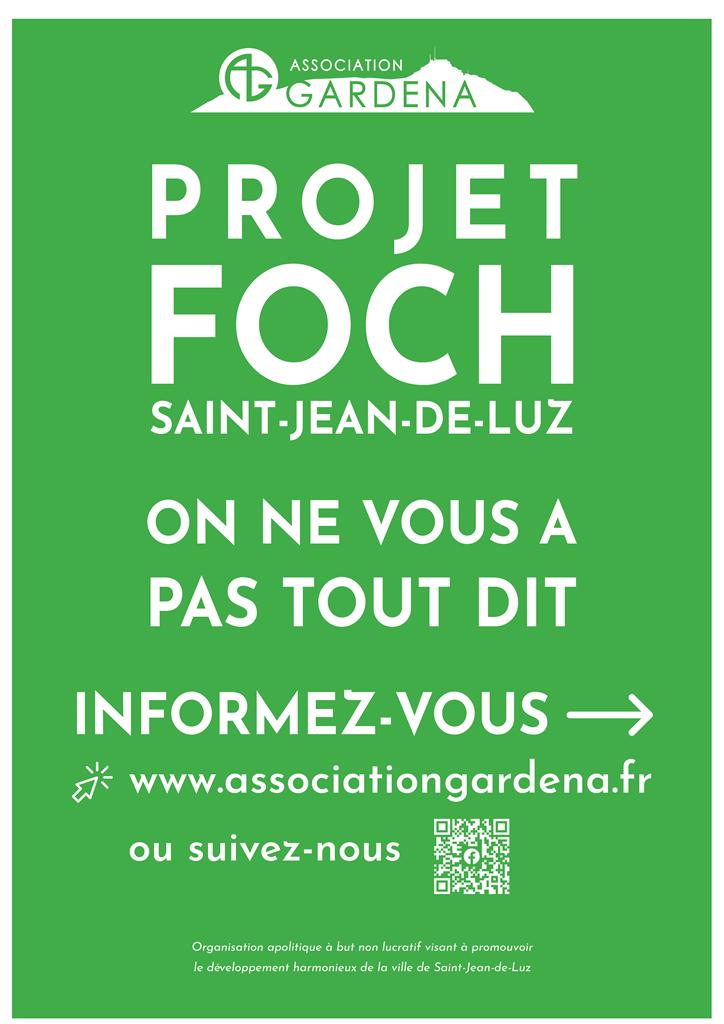 Affiche Gardena Projet Foch informez-vous